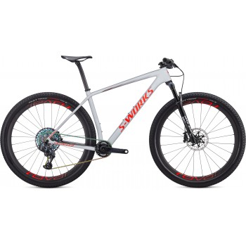 Specialized EPIC HT SW CARBON SRAM AXS 29 Gloss Dove Grey/Rocket Red/Crimson (2020)