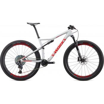 Specialized EPIC SW CARBON SRAM AXS 29 Gloss Dove Grey/Rocket Red/Crimson (2020)