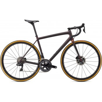 Specialized AETHOS SW DI2 Satin Carbon/Red Gold Chameleon/Bronze Foil (2021)